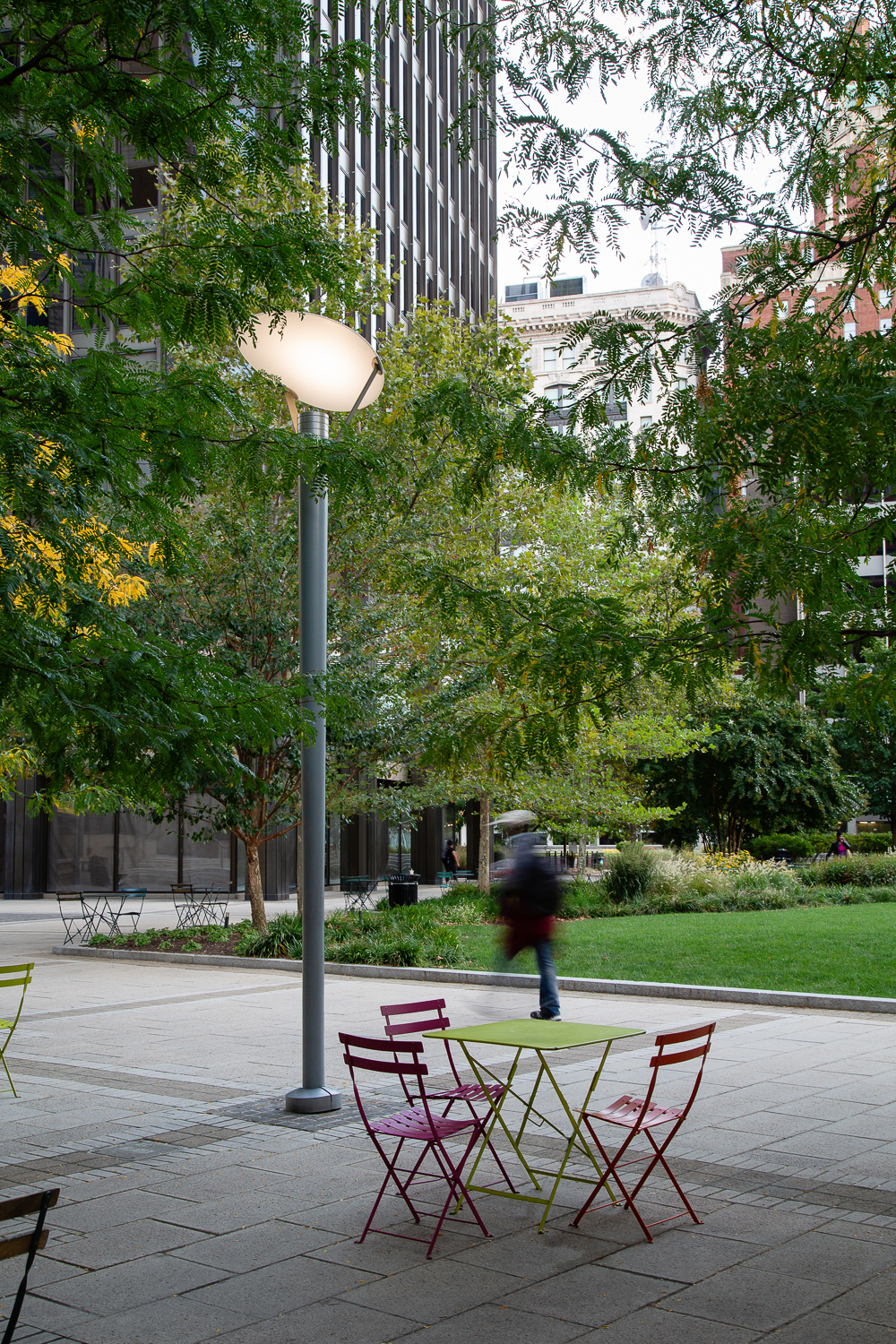 Urban park landscape design photography by Ella Bessette. Architectural photographers for Baltimore MD metro area.